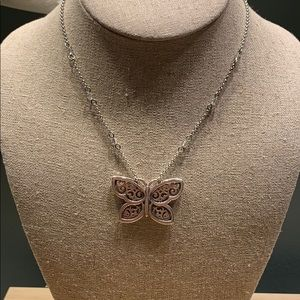 Brighton Butterfly silver necklace